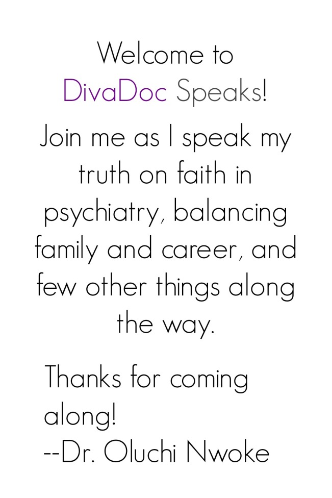 Welcome to DivaDoc Speaks!